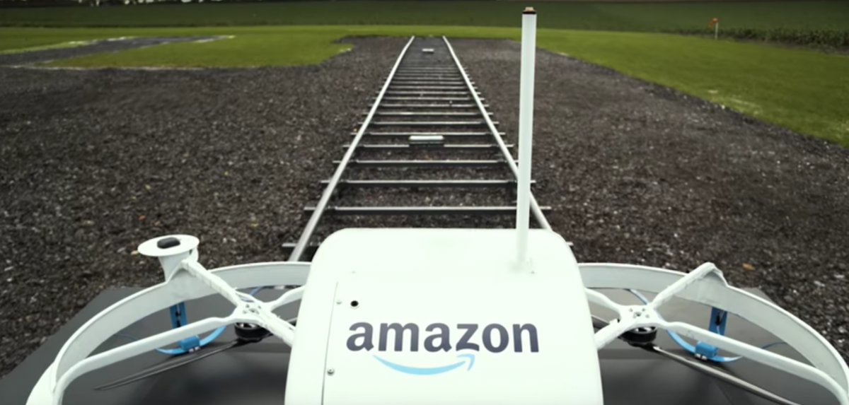 the-drone-is-pushed-out-on-a-track
